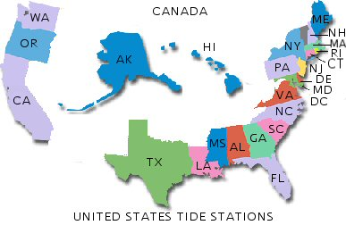 Tide Location Map
